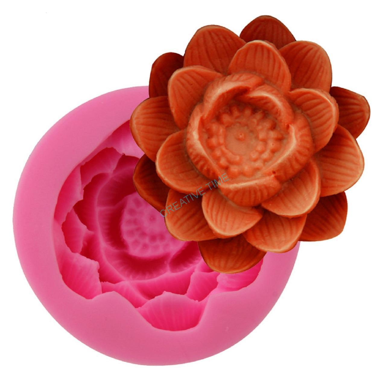 e90e74e0831e Silikónová forma kvet lotos veľký - č.34