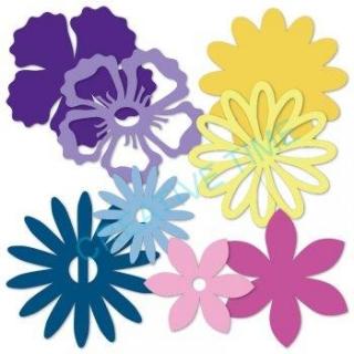 940fa8a5b Papierové výrezy kvety svetlé/tmavé empty