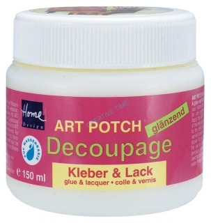 Lepidlo a lak na decoupage lesklý ART POTCH 150 ml