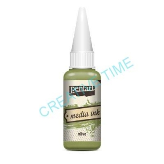 Media ink atrament 20 ml olive