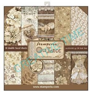 Sada papierov Old Lace 30,5 x 30,5 cm 10 ks