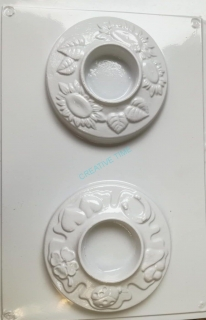 0a72d9e2d Plastová forma na odlievanie stojan na sviečku kruh empty